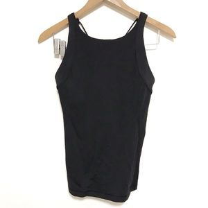 Lululemon criss back built in bra fitted tank top
